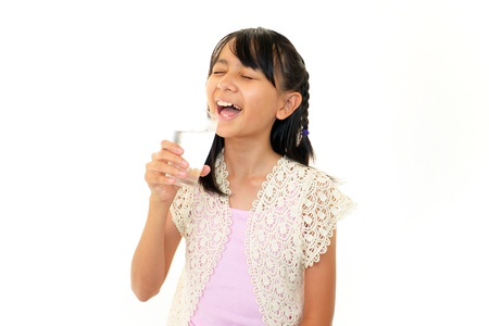 non alcoholic beverage: Girl drinking water