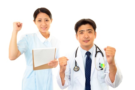Medical staff of guts pose Stock Photo - 15582591