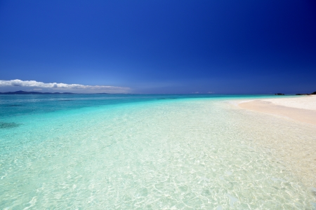 Beautiful beach in Okinawa photo