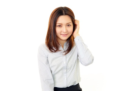 Smiling business woman Stock Photo - 15403405