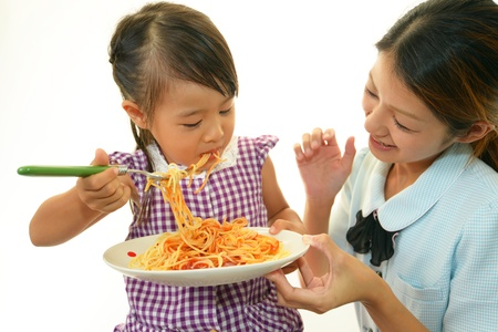 child having spaghetti Stock Photo - 15423909