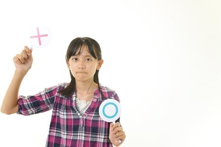 non smoking: Girl with a mark of non smoking