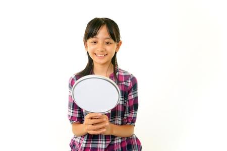 schoolroom: Smiling girl Stock Photo