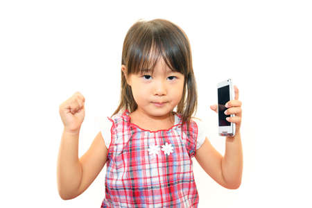 通信: Portrait of little Asian girl