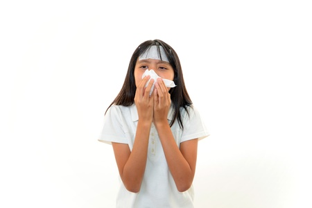 Girl with a bad cold Stock Photo - 15720659