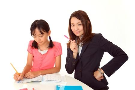 schoolroom: Child Studying Stock Photo