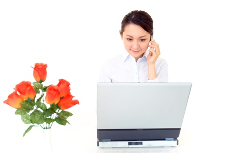 Woman during a call Stock Photo - 15744469