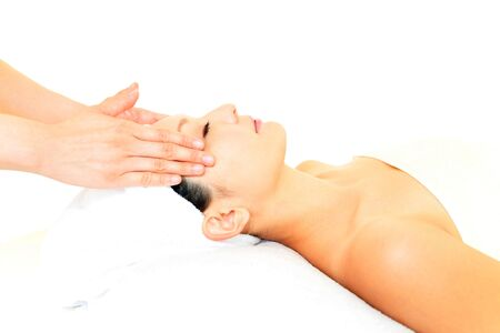 Smiling woman at massage spa Stock Photo - 15748442