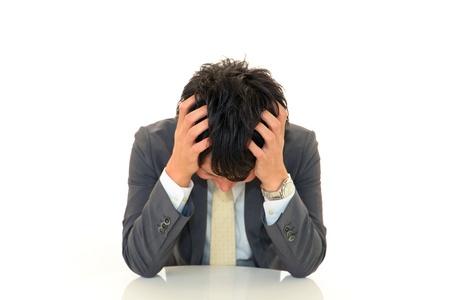 Depressed businessman Stock Photo - 15981683
