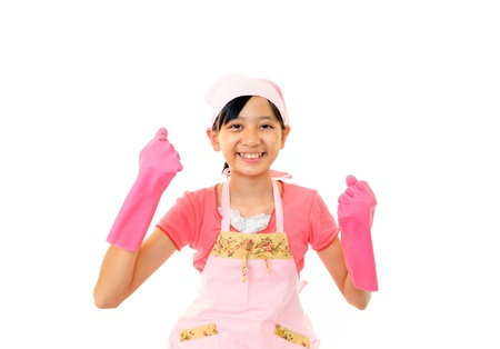 The girl who does cleaning Stock Photo - 15947468