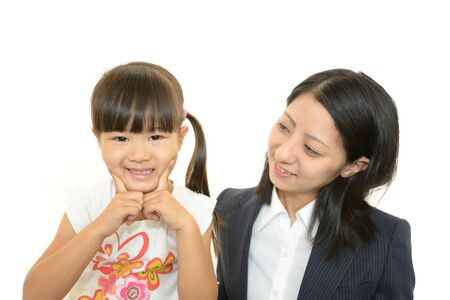 Happy little asian girl smile Stock Photo - 15900166