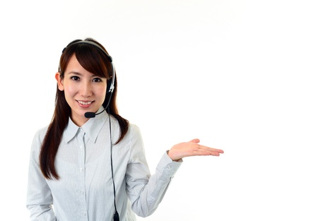 customer services operator Stock Photo - 15948701