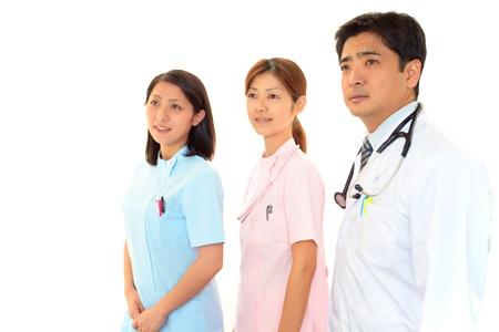 staff medico: Il personale medico del sorriso Archivio Fotografico