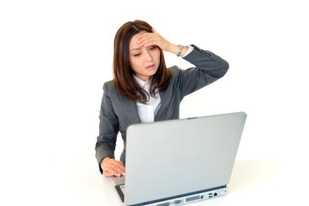 lovely businesswoman: Depressed women
