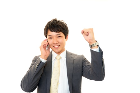 Businessman enjoying success photo