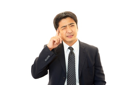 Stressed businessman  Stock Photo - 16083924