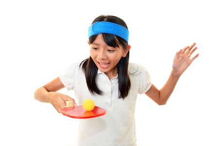 The girl who plays table tennis Stock Photo - 16168906