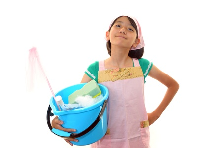 The girl who cleans it Stock Photo - 16210059