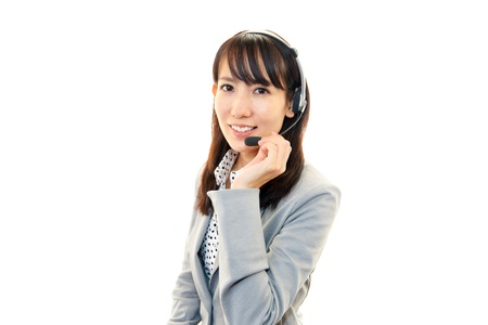 customer services operator photo