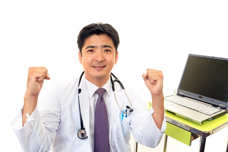 Smiling asian medical doctor Stock Photo - 16277686