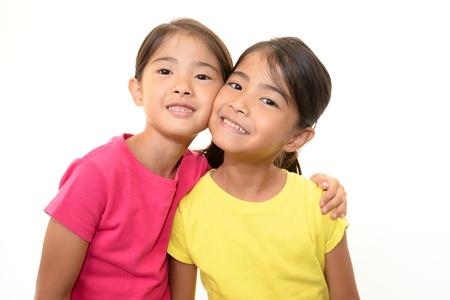 schoolroom: Smiling girls
