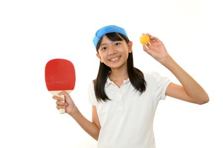 tischtennis: Das M�dchen, das Tischtennis spielt Lizenzfreie Bilder
