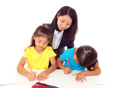 Children Studying photo