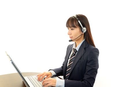 customer services operator Stock Photo - 16459803