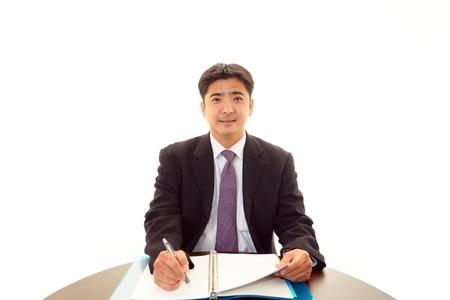 salaried: Smiling businessman Stock Photo