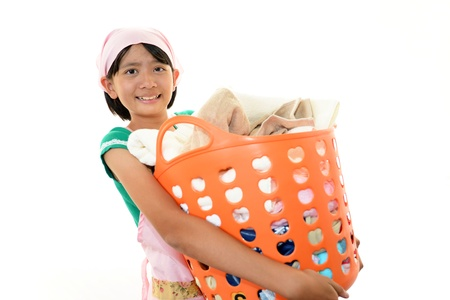 Girl cleaning Stock Photo - 16457365