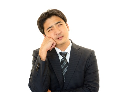 Depressed businessman Stock Photo - 16462454