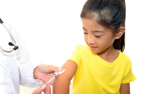 Girls to be vaccinated Stock Photo - 16464496