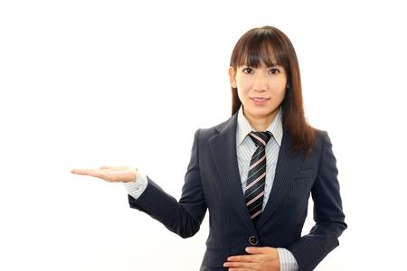 Smiling business woman Stock Photo - 16497635
