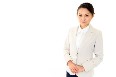 Smiling business woman Stock Photo - 16484026