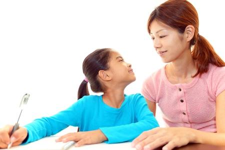 self study: Child Studying Stock Photo