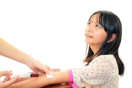 The girl who receives preventive injection Stock Photo - 16565079