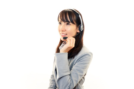customer services operator Stock Photo - 16568611