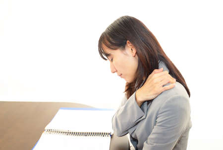 Woman with shoulder neck pain  Stock Photo - 16691619