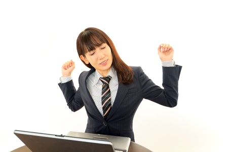 Stressed Business Woman Stock Photo - 16690941