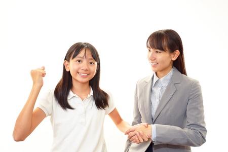 Girls willing to pass exam Stock Photo - 16691155