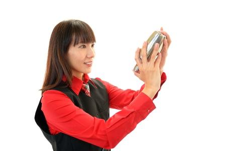 Working waitress  Stock Photo - 16926494