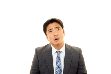 Expression of melancholy businessman  Stock Photo - 16926398