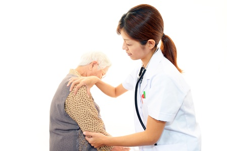 Old wonan and the female docter Stock Photo - 16926463