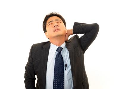 salaried worker: Stressed businessman