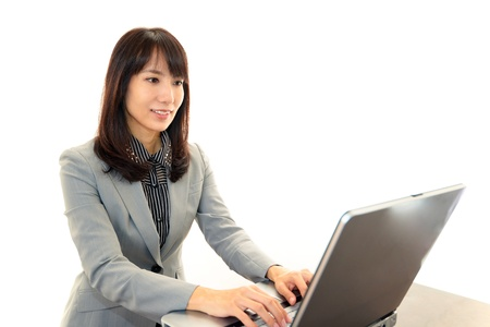 Smiling business woman Stock Photo - 16964449