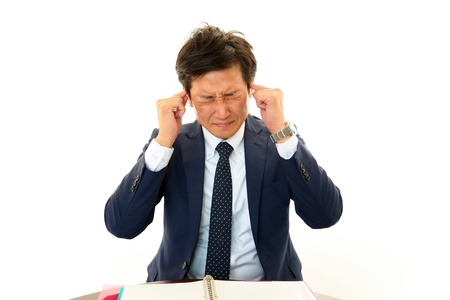 Businessman of a tiring state Stock Photo - 16985740