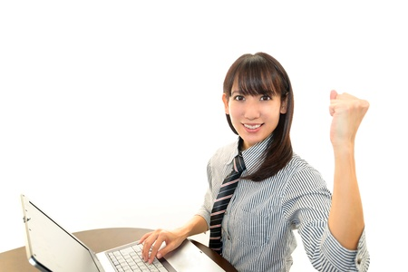 Smiling business woman Stock Photo - 16989632