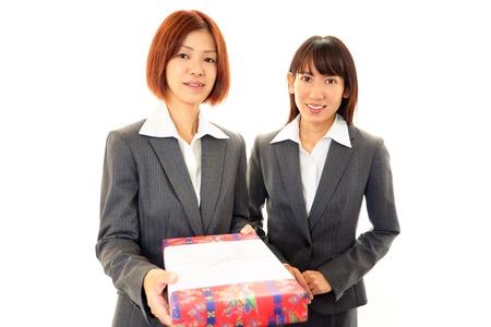 Two businesswomen smiling Stock Photo - 16989557