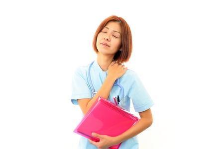 Expression of melancholy nurse Stock Photo - 17005275