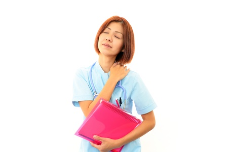 Expression of melancholy nurse Stock Photo - 17005275